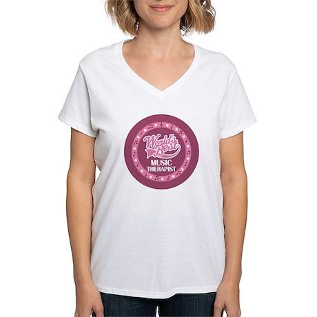 Worlds Best Music Therapist Women's V-Neck T-Shirt