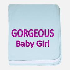 Gorgeous Baby Girl-Purple baby blanket