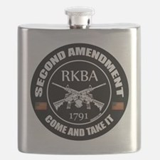 Second Amendment RKBA ARs Come and Take It Flask
