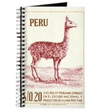 Antique 1953 Peru Vicuna Postage Stamp Journal