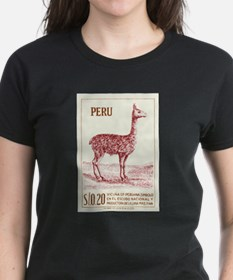 Antique 1953 Peru Vicuna Postage Stamp T-Shirt