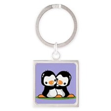 Twins Square Keychain