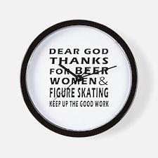 Beer Women And Figure Skating Wall Clock