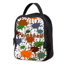 Fun Paintball Splatter Neoprene Lunch Bag