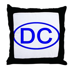 DC Oval - Washington DC Throw Pillow
