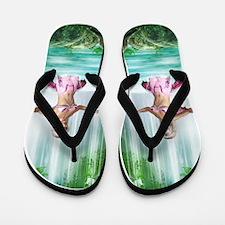 Pink Mermaid Flip Flops