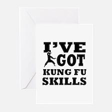 Kung Fu martial arts designs Greeting Cards (Pk of