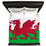 Welsh dragon Luxe King Duvet Cover