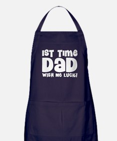 1st Time Dad Funny Apron (dark)