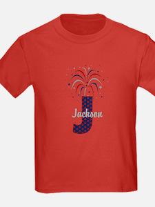 4th of July Fireworks letter J T-Shirt