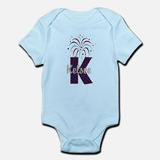 4th of July Fireworks letter K Body Suit