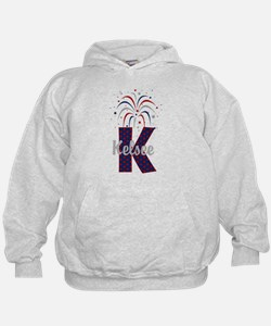 4th of July Fireworks letter K Hoodie