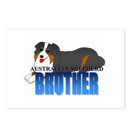 Australian Shepherd Brother Postcards (8 Pack)