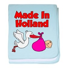 Made In Holland Girl baby blanket