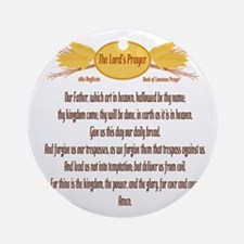 The Lords Prayer Wheat Ornament (Round)