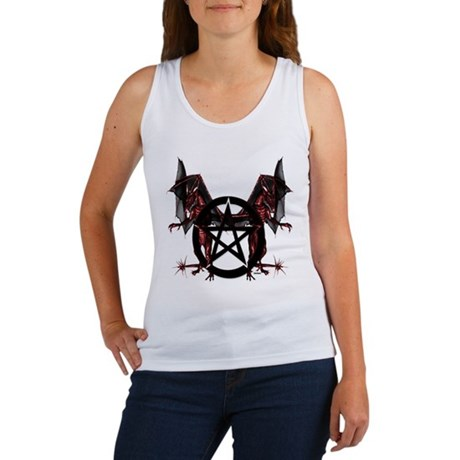 Red Dragons with Pentacle Tank Top