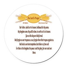 The Lords Prayer Wheat Round Car Magnet