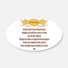 The Lords Prayer Wheat Oval Car Magnet