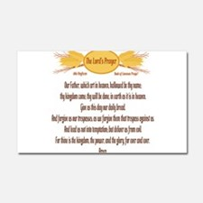 The Lords Prayer Wheat Car Magnet 20 x 12