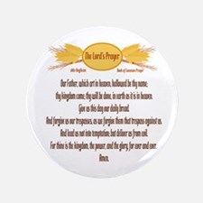 "The Lords Prayer Wheat 3.5"" Button (100 pack)"