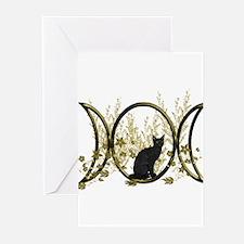 Triple Moon Art Series Cat Greeting Cards (Pk of 2