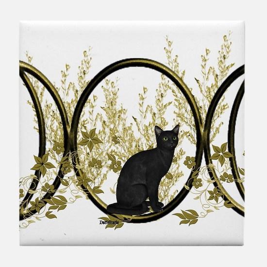 Triple Moon Art Series Cat Tile Coaster