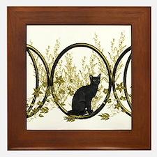 Triple Moon Art Series Cat Framed Tile