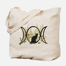 Triple Moon Art Series Cat Tote Bag