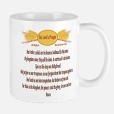 The Lords Prayer Wheat Small Mugs