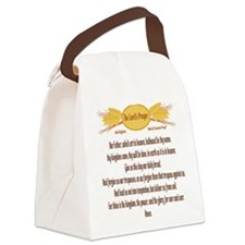 The Lords Prayer Wheat Canvas Lunch Bag