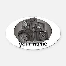 Shutter Bug Oval Car Magnet