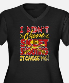 Cute Skeet shooting Women's Plus Size V-Neck Dark T-Shirt