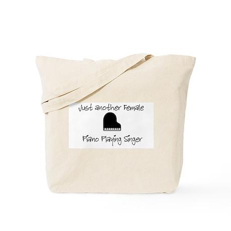 Female Piano Player Tote Bag