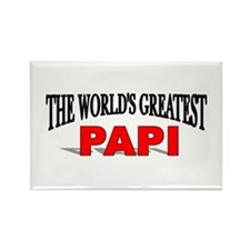 """""""The World's Greatest Papi"""" Rectangle Magnet"""