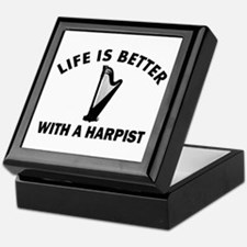 Life is better with a Harpist Keepsake Box