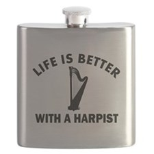Life is better with a Harpist Flask