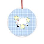Lamb on Blue Ornament (Round)