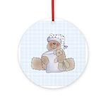 Naptime Bear Ornament (Round)
