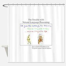 SpecGram NLP Monkey Shower Curtain