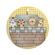 Noah's Ark Ornament (Round)