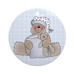 Naptime Bear Ornament (Round)