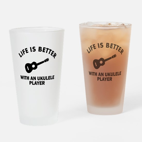 Life is better with a Ukulele Drinking Glass