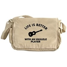 Life is better with a Ukulele Messenger Bag