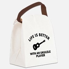 Life is better with a Ukulele Canvas Lunch Bag