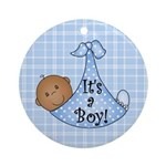 It's a Boy(African American) Ornament (Round)