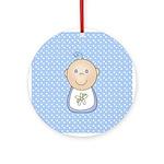 Baby Boy (White) Ornament (Round)