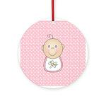 Baby Girl (White) Ornament (Round)