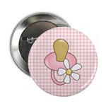 Baby Pacifier Pink Button