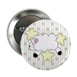 Lamb on Flowers Button