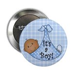 It's a Boy(African American) Button